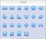 OpenOffice Draw Basic Shapes Menu