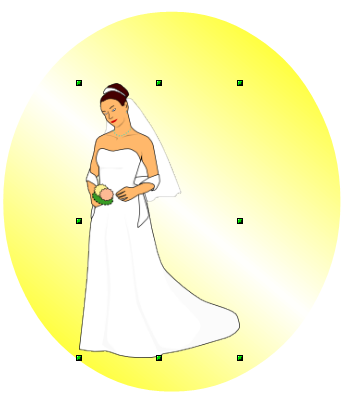 OpenOffice Draw Resized Bridal Image