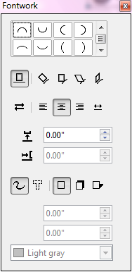 open office draw how to make text curced