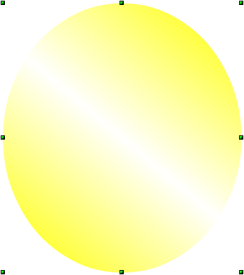 OpenOffice Draw Gradient Filled Ellipse with No Line
