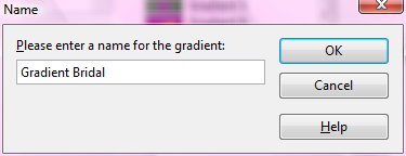 OpenOffice Draw Gradient Name Window