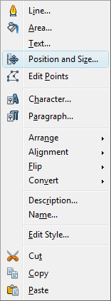 OpenOffice Draw Menu Position & Size