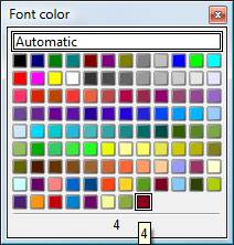 OpenOffice Draw 4.0 Font Colors