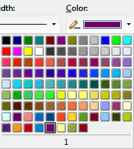 OpenOffice Draw 4.0 Set Custom Line Color