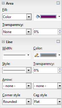 OpenOffice Draw 4.0 Sidebar Line Color