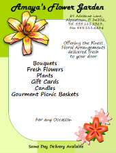 OpenOffice Draw Florist Flyer