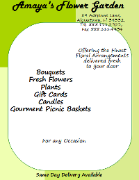 OpenOffice Draw Florist Flyer With Text and Background