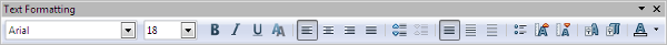OpenOffice Draw Text Formatting Toolbar