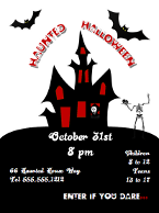 Haunted Halloween Flyer