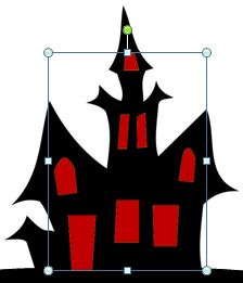 Microsoft Publisher 2010 Haunted House with Red Windows
