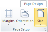 Microsoft Publisher 2010 Page Design Tab Page Setup