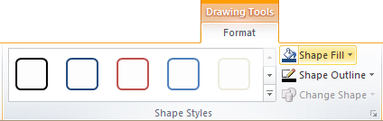 Microsoft Publisher 2010 Shape Fill Icon
