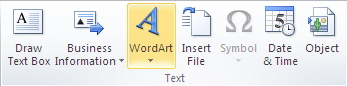 Microsoft Publisher 2010 Text Group WordArt Icon