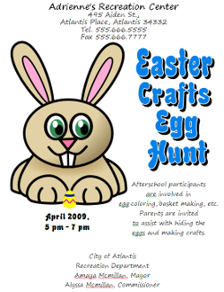 Microsoft Word 2007 Easter Egg Hunt Flyer