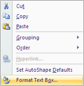 Microsoft Word 2007 Format Text Box Menu