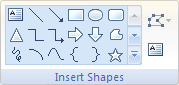 Microsoft Word 2007 Insert Shapes Group