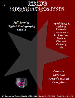 Digital Photography Flyer with Images