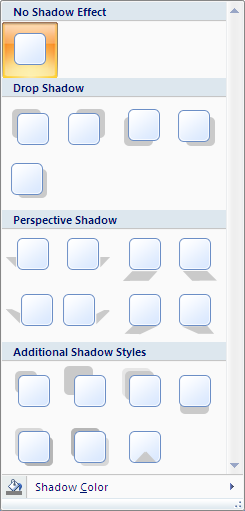 Microsoft Word 2007 Drop Shadow Window