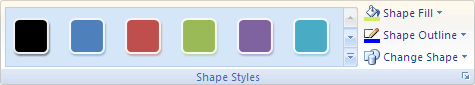 Microsoft Word 2007 Shape Styles Group