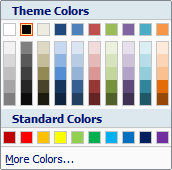Microsoft Word 2007 Theme Colors